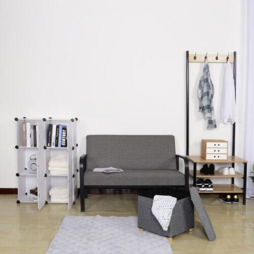 Steckregal Garderobenschrank DIY Steckregal Lagerregal mit Türen SR0056ws Weiß