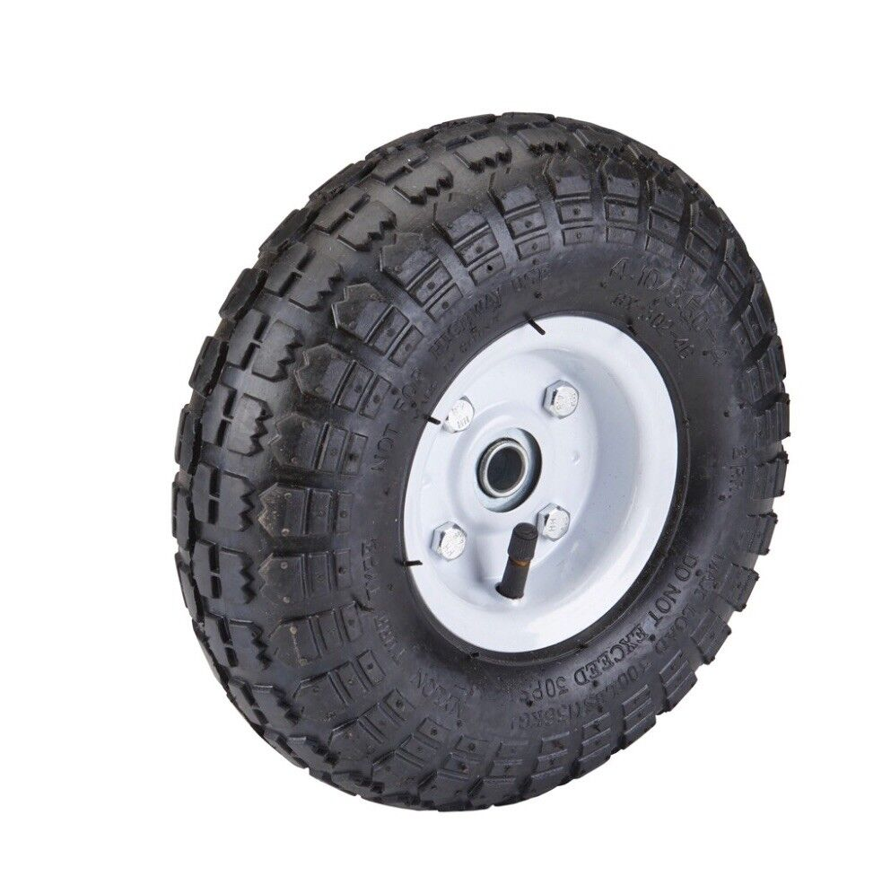 (LOT OF 4) 10 in. Pneumatic Tire with White Hub for mini bike, go kart and more