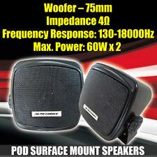 2 Way 120 Watt Car Motorhome Boat Truck HGV Van Pod Shelf Surface Mount Speakers
