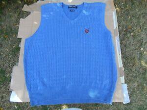 Ralph-Lauren-Polo-Golf-Sweater-Vest-XL-Royal-Blue-Excellent-Condition