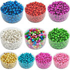 100pcs Xmas Colorful Iron Beads Christmas Jingle Bells DIY Jewelry Charms 8x6mm