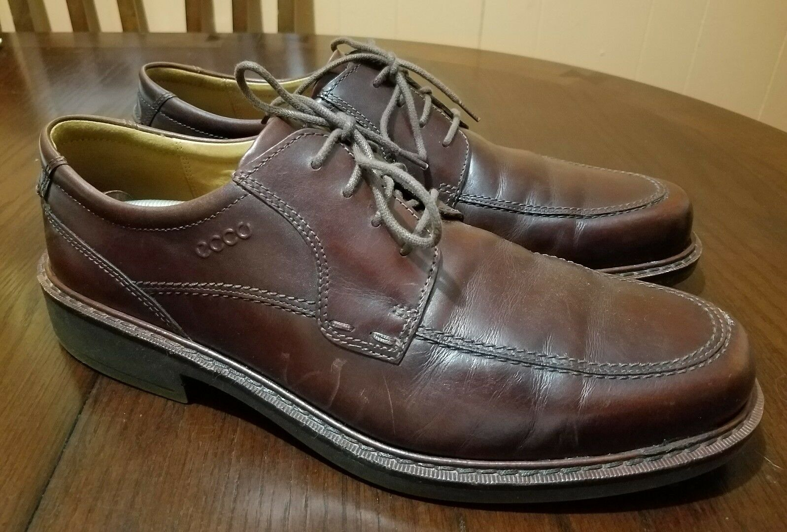 ECCO Brown Leather Vegetable Tanned Insole Men Oxford shoes US 11.5,