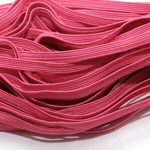 ONE-METRE-OF-SOFT-STRETCHY-FLAT-ELASTIC-DARK-PINK-COLOUR-6-MM-WIDE