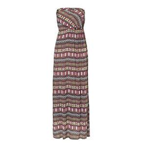 lang bunt MAXI Strandkleid Kleid Gr.36 S Maxikleid ...