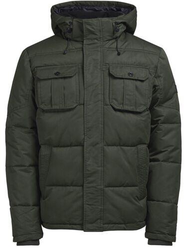 JACK /& JONES New Mens Will Hooded Jacket Padded Warm Outdoor Winter Coat