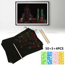 Kratzbilder Magic Scratch Kratzblock Sehenswürdigkeiten Kratzpapier Kit