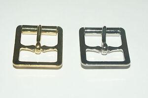 50 Acero prensado Roller Hebillas 3/4 &#034; (19mm) - de latón chapado-laminado en níquel  </span>