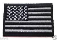 (black And White) U.s. American Flag reflective Biker Patch P3270 E