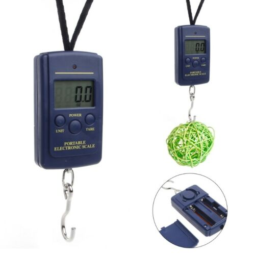 New 40kg 88Lb 1410oz Digital Handy Scales Luggage Fishing LCD buzzer indication