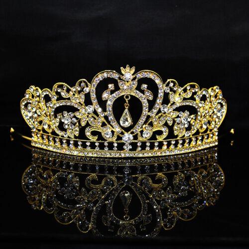 Neue Mode Hochzeit Kristall Perle Kopf Kronen Strass Tiara Bräute Haarband CC
