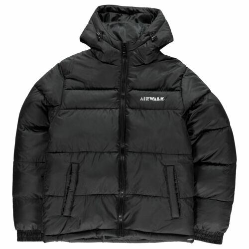 Airwalk Puffer Jacket Youngster Boys Coat Top Full Length Sleeve Hooded Zip