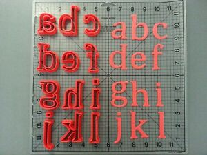 Details about Cambria Math Font Lowercase Cookie Cutter Set