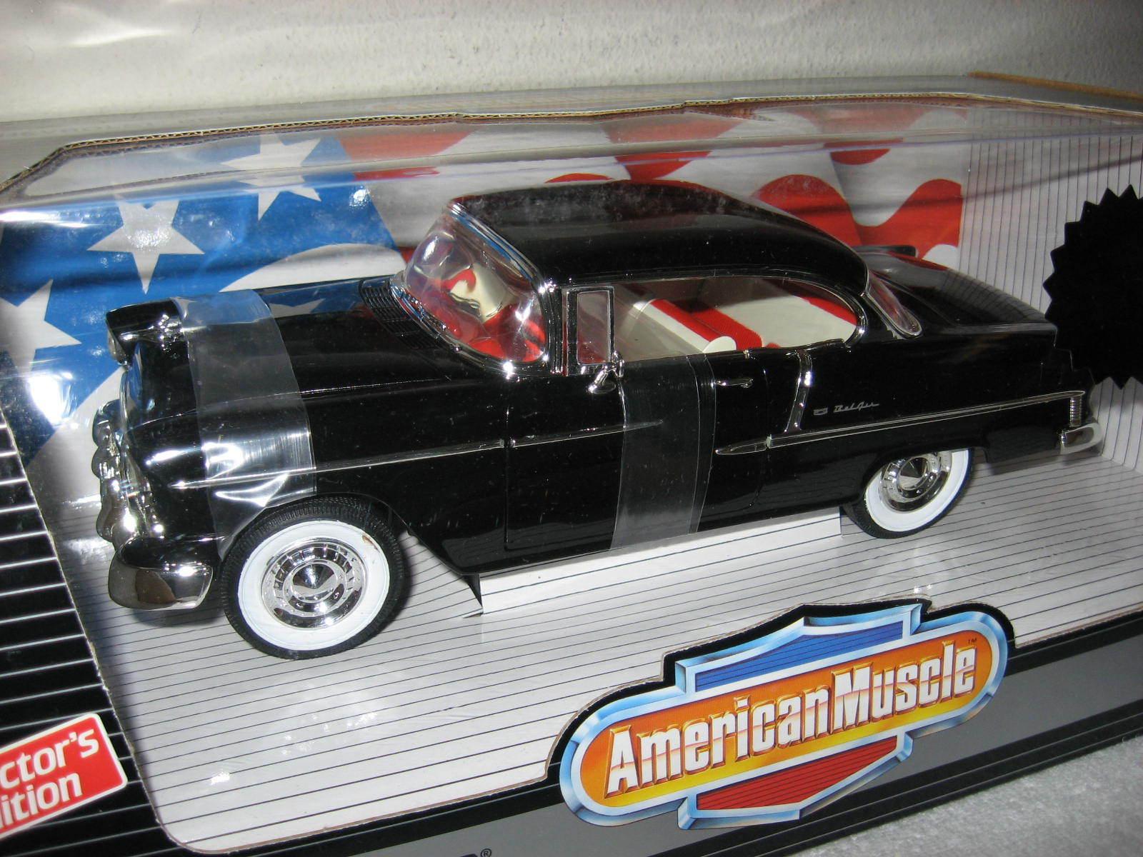 1955 Chevrolet Bel Air noir RARE ERTL 1 18 limited (1500) jamais hors de la boîte