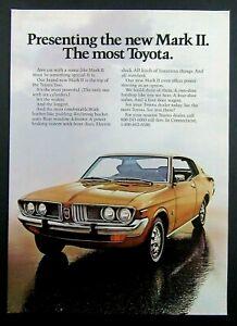 1973 TOYOTA MARK II - Top Of The Line Toyota - Magazine Ad