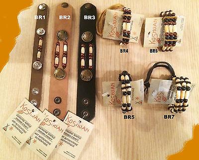 Ref:1027 BR F Bracelets 2R AMERINDIEN HURON 5 Nations Canada