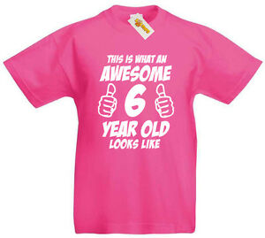 Image Is Loading Awesome 6 Year Old T Shirt 6th Birthday