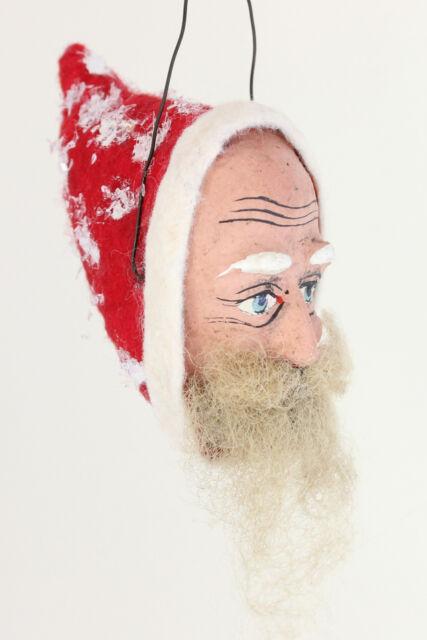 Baumschmuck Santa Claus Weihnachtsmann Nikolaus Belsnickle Dresdner Pappe um1910
