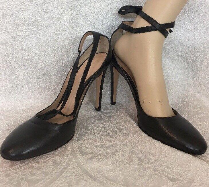 negozio online Gianvito Rossi scarpe nero Leather Wraparound Tie Round Toe Toe Toe Dimensione 40 New  al prezzo più basso