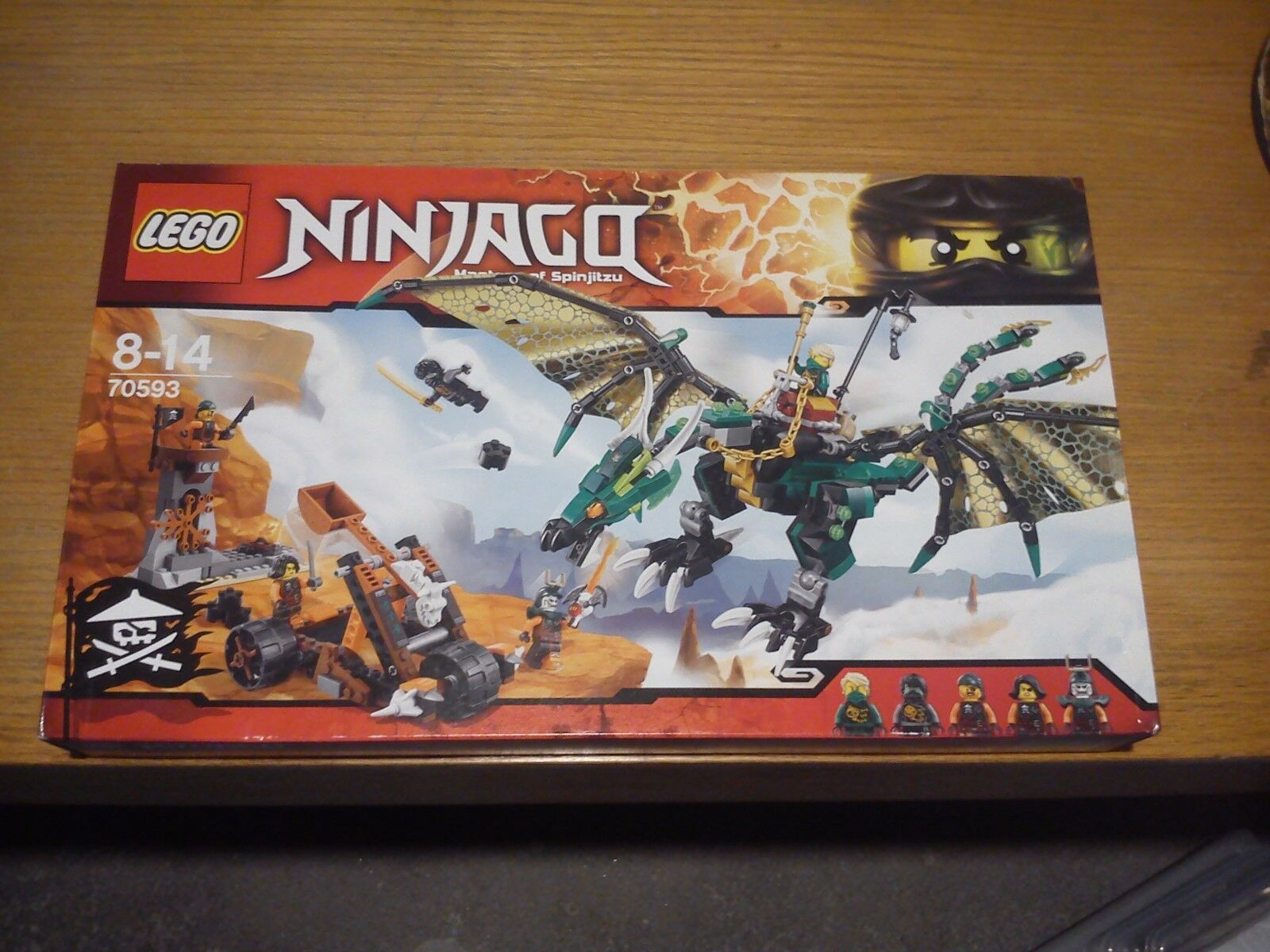 Lego 70593 Ninjago  Skybound  Le dragon émeraude de Lloyd  Nuovo & Sealed
