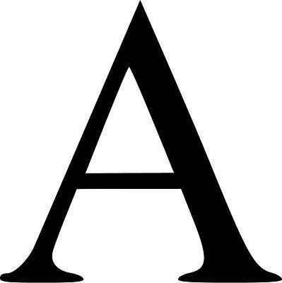 Alpha Greek Letter Capital A Vinyl Sticker Decal Choose