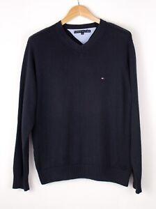TOMMY-HILFIGER-Men-Casual-Knit-Sweater-Jumper-Size-S-ATZ688