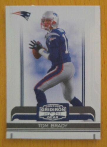 2006 Donruss Gridiron Gear #63 Tom Brady New England Patriots
