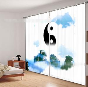 3D Clasicos Hill 16 Cortinas de impresión de cortina de foto Blockout Tela Cortinas Ventana Reino Unido