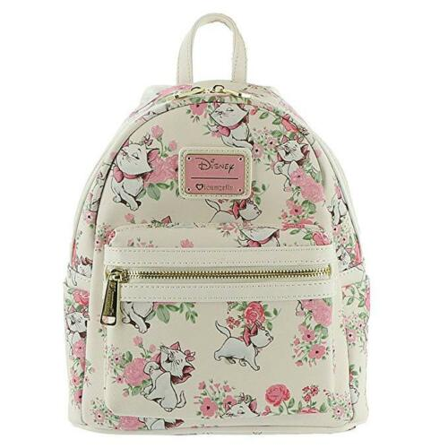 Loungefly Disney Aristocats Marie Floral Mini Faux Leather Bag Backpack WDBK0335