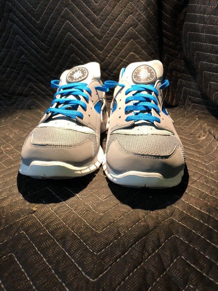 Nike Air HUARACHE FREE STEALTH GREY WHITE NEPTUNE BLUE BLACK 487654-014 Size 12
