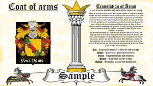 Yust-Yuste COAT OF ARMS HERALDRY BLAZONRY PRINT