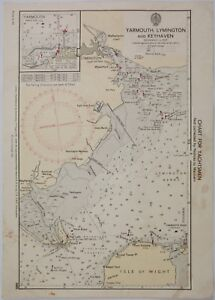 Admiralty Chart 5605 For Yachtsmen Volume Large Lymington And Keyhaven Yarmouth