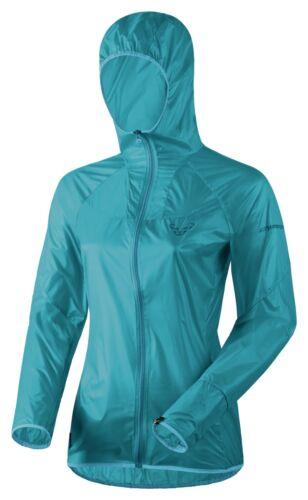 New Dynafit React UL Bleu Femme Medium Coupe-Vent Pluie Shell Veste Ret $160