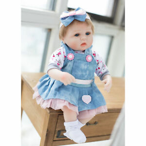 Real Life Baby Doll Soft Silicone Vinyl Reborn Lifelike Realistic Newborn Gift