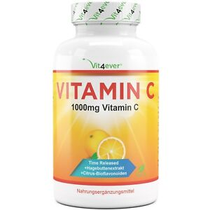 365 Tabletten Vitamin C 1000mg Hagebuttenextrakt + Bioflavonoiden Time Released
