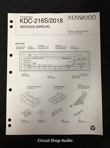 details about original kenwood kdc 216s 2018 cd receiver service manual