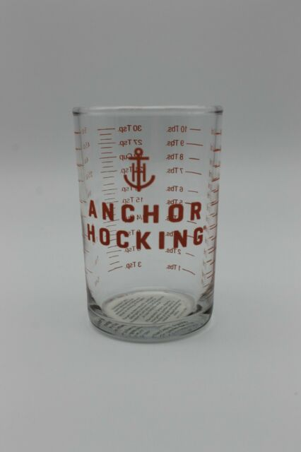 5 Oz Clear Glass Measuring Cup Bar Jigger Shot Glass Anchor Hocking 1 2 3 6