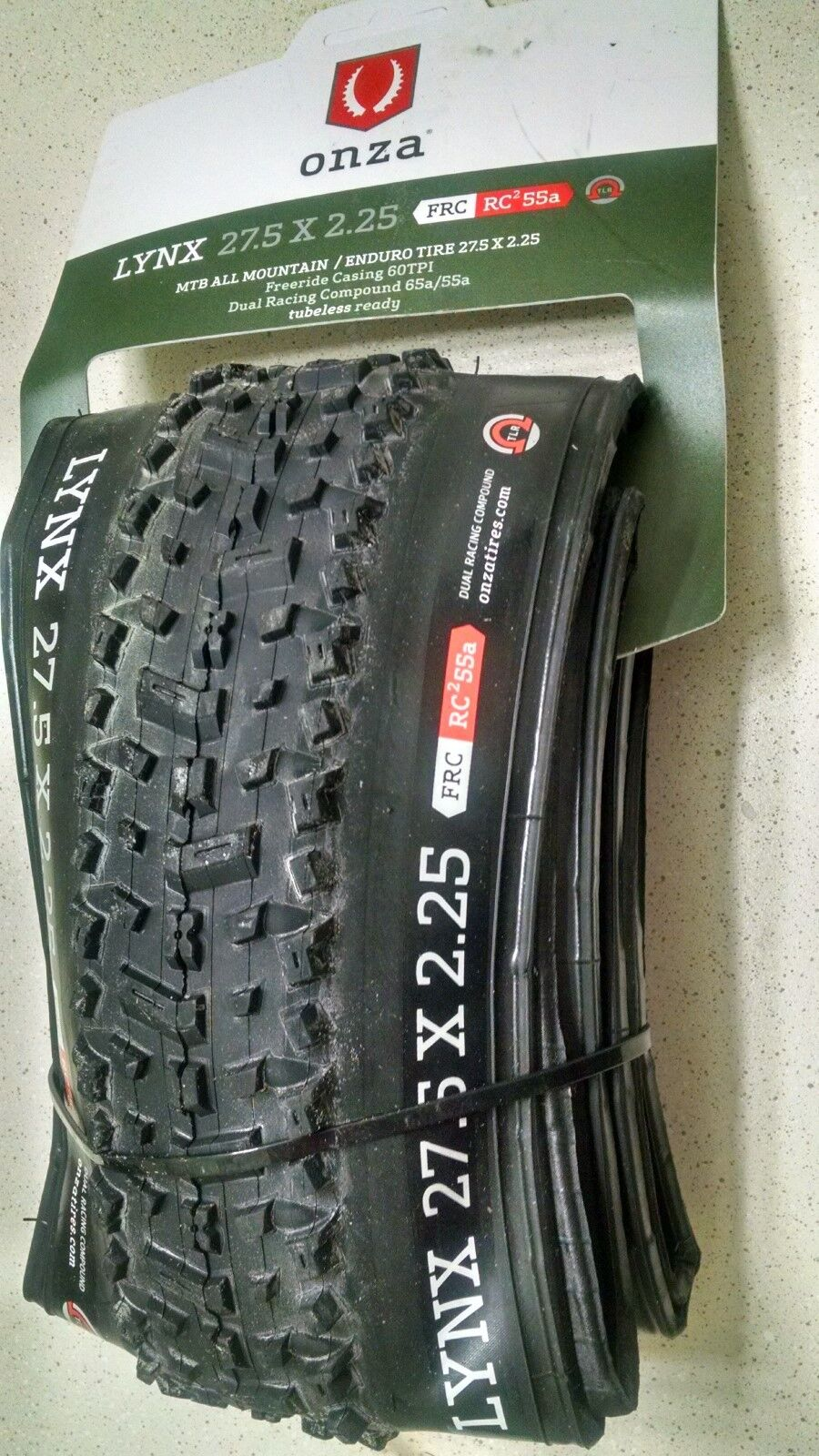Onza LYNX 27.5 x 2.25 Tubeless Enduro AM Tire FRC RC255a Dual Racing Compound