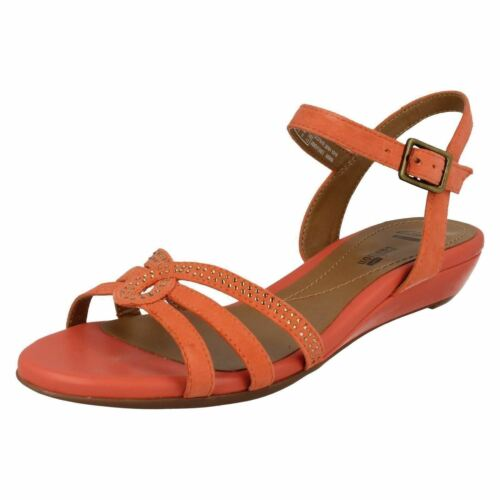 Coral Uk Strappy Sandal Suede Clarks Bianca 7e Size Crown New 0gtCtw