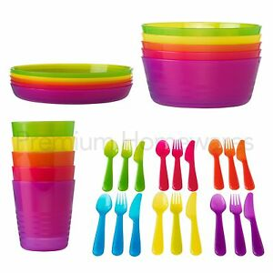 Image is loading IKEA-KALAS-Kids-039-Plastic-Party-Tableware-Bowls-  sc 1 st  eBay & IKEA KALAS Kids\u0027 Plastic Party Tableware (Bowls/Cups/Plates or ...