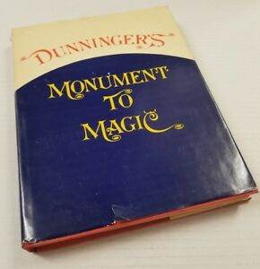 Dunninger-039-s-Monument-to-Magic-First-Edition-DJ-1974-Illustrated