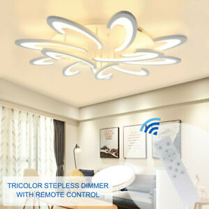 Modern-Chandelier-Lamp-LED-Acrylic-Ceiling-Light-6-9-12-Lights-Remote-Control-US