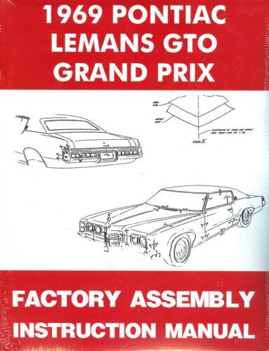 1969 69 GTO//TEMPEST//LEMANS//GRAND PRIX  ASSEMBLY MANUAL