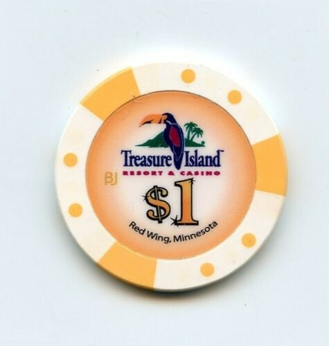 1.00 Chip from the Treasure Island Casino in Red Wing Minnesota