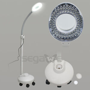 Segawe floor magnifier 5x rolling stand magnifying lamp led beauty image is loading segawe floor magnifier 5x rolling stand magnifying lamp aloadofball Gallery
