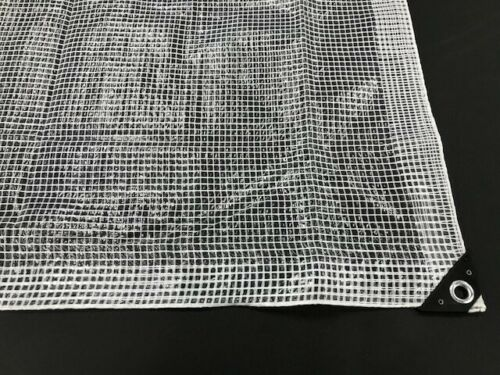 2.0m x 4.0m Reinforced Grid Clear Tarp Screen Camping Waterproof Cover Rain Shed