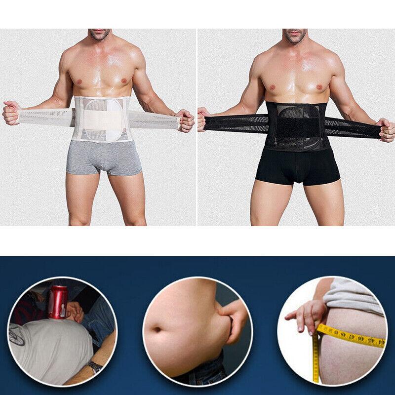 Herren Schlankmachend Fat Brennen Bauch Body Shaper Slim Taille Turnschuhe Belt