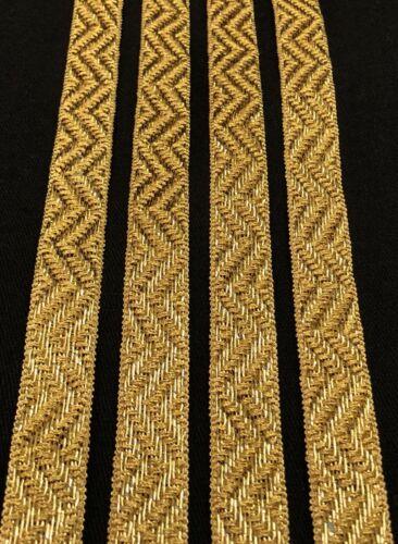 2 Yard Zari Gold Trim Indian Suit Saree Border Craft Lace SewOn Gota Tape  1.7cm