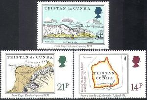 Tristan-da-Cunha-1981-Early-Maps-Ships-Transport-History-Geography-3v-set-n41432