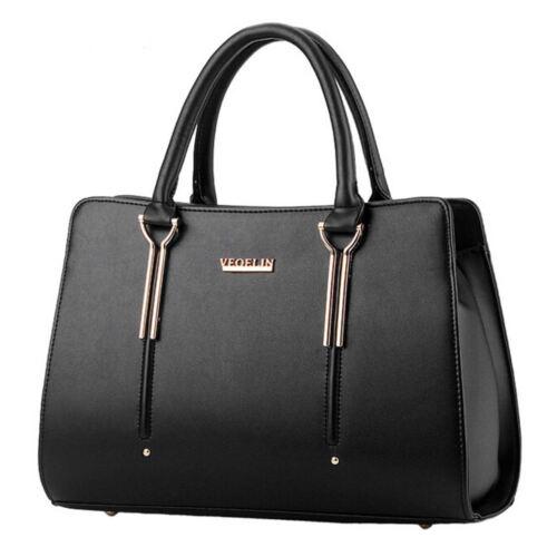 Women/'s Faux Leather Tote Large Shopper Handbags Ladies Designer Shoulder Bag