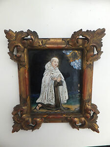 Fine-17th-century-holy-limoges-enamel-portrait-miniature-of-a-monk-framed
